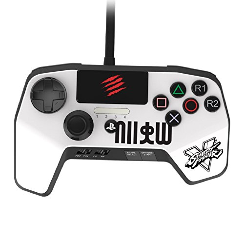 New Improved D-Pad - Mad Catz Street Fighter V FightPad PRO for PlayStation4 and PlayStation3 - White - PlayStation -
