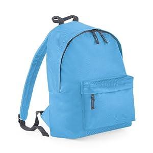 Plain 2 Pocket Backpack Rucksack School Bag Choose Your ...