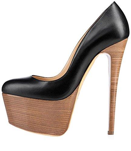 Schlüpfen Pumps 15 Damen Stiletto Calaier Casun 5CM Schuhe qx8SgnAwB