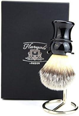 Cepillo de pelo sintético ligero para hombre, el mejor cepillo de afeitar y soporte para cepillos: Amazon.es: Belleza