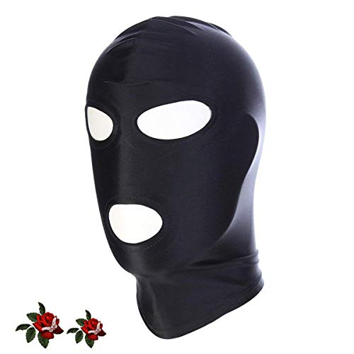 TM-mall Black Breathable Blink Open Mask for Cosplay (Size M)
