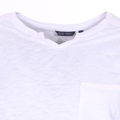 ANTONY MORATA T-Shirt scollo V Con Taschino - M, BIANCO