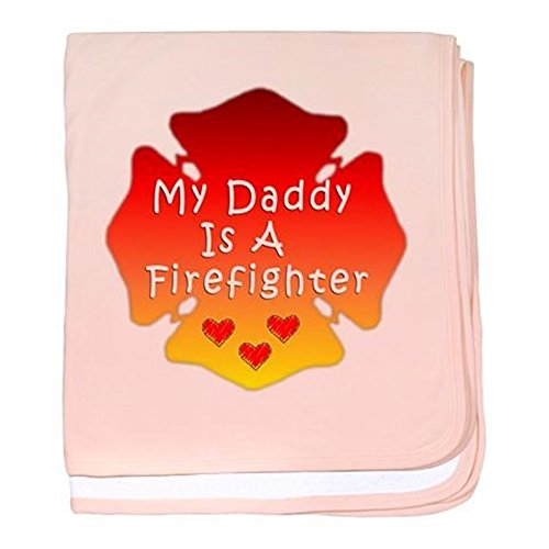 CafePress - My Daddy Is A Firefighter baby blanket - Baby Blanket, Super Soft Newborn Swaddle