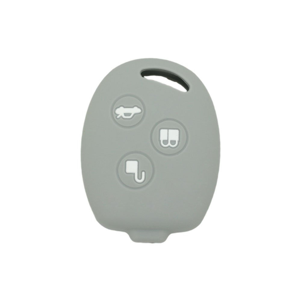 DSP Silicone Cover Protector Case Skin Jacket fit for FORD 3 Button Remote Key Fob CV2707 White