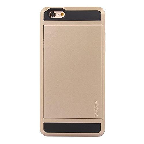 Phone Taschen & Schalen Für IPhone 6 Plus / 6S Plus, Blade PC + TPU Kombi-Gehäuse mit Kartensteckplatz ( Color : Gold )
