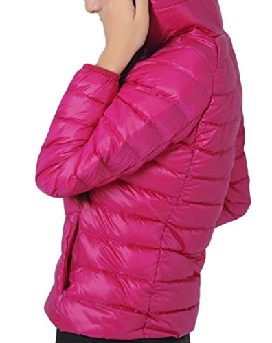 Women's M Sleeve Packable Long amp;S Red Light Down Winter Rose Puffer Jackets amp;W BqAqEO