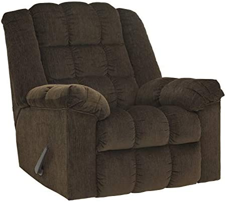 Flash Furniture Signature Design by Ashley Ludden Rocker Recliner in Cocoa Twill