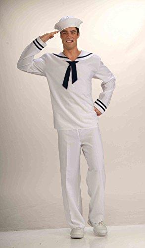 Forum Novelties Men's Anchors Aweigh Sailor Costume, White/Blue, (Sailor Costumes Male)