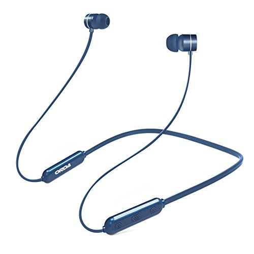 ORDA Bluetooth Headphones Neckband in-Ear Magnetic Earphones Built-in Mic Wireless Earbuds Headset, 8 Hours Playtime/HD Stereo/Noise Cancelling/Sweatproof for Sports Running,Cycling,Gym (Blue)