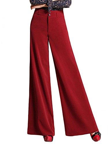 Enlishop Women High Waist Wide Leg Oversized Long Palazzo Pants Trouser Black by Enlishop (Image #2)