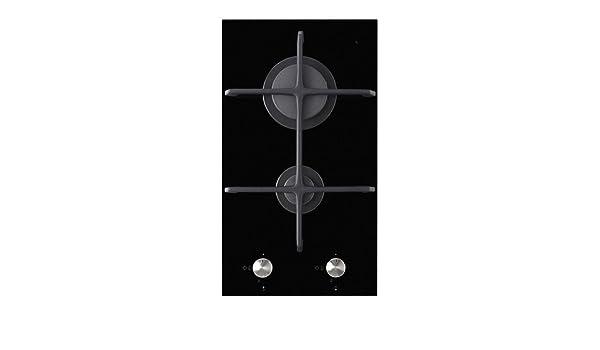 IKEA MOJLIG - vitrocerámica 2 quemador de gas Domino, negro ...