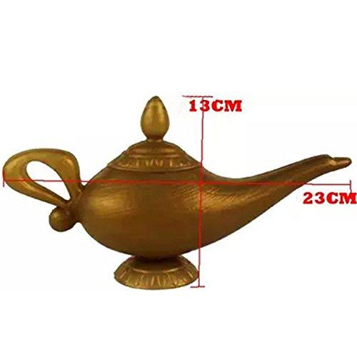 Zehui Plastic Cosplay Magic Halloween Christmas Panto Arabian for Aladdin Genie Lamp Fancy Dress Prop Home -
