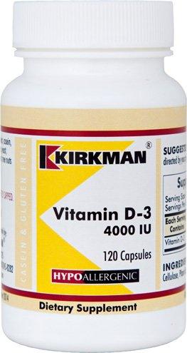 Cheap Kirkman Vitamin D-3 4000 IU – Hypoallergenic    120 Vegetarian Capsules    Gluten Free    Casein Free    Capsules are plant based