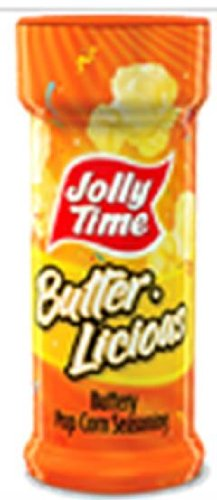 Jolly Time - Butter Licious Reese Buttery Popcorn Salt (New Label but SAME Reese Ingredients, Product and Salt inside!), Buy SIX Jars and Save, Each Jar is 3.25 Oz (Pack of 6)