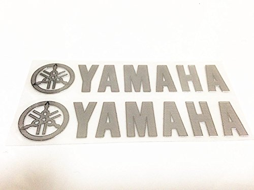 Chrome Reflective Plastic Gas Tank Sticker Decal for Yamaha Motorcycles
