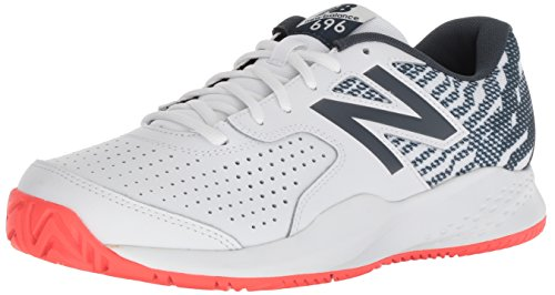 New Balance Men's 696v3 Hard Court Running Shoe, White, 8 2E US (New Balance Tennis Apparel)