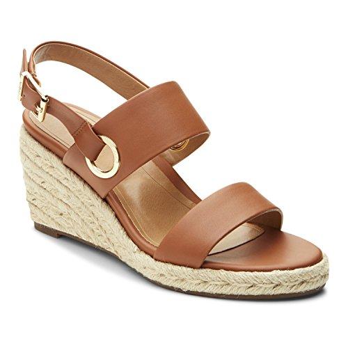 Vionic Womens Vero Espadrille Sandal, Tan, Size 7.5
