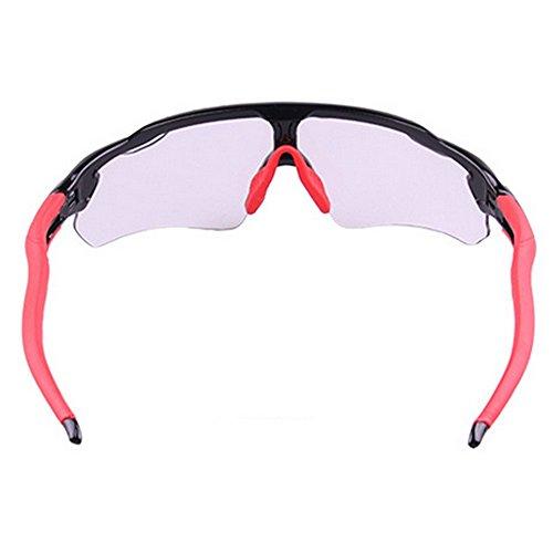 Gafas Bicicleta Gafas Negro De black Color para Deportes Rompevientos de Sol Red Hombre Al De De Sol LBY Montar Libre Descolorido Gafas Aire Montaña Bicicleta wqYOAY