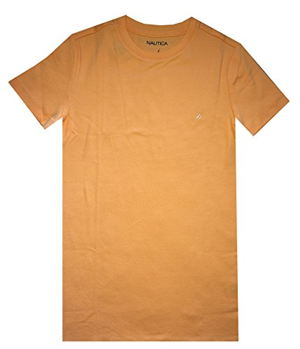 Nautica Women Classic Crewneck Short Sleeve T-Shirt (L, Light (Ladies Classic Crewneck Tee)