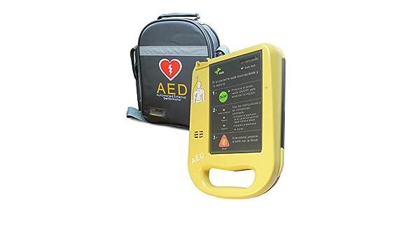 Desfibrilador semiautomático AED7000 con autotest totalmente en español. Fácil de usar con 2 botones.: Amazon.es: Salud y cuidado personal