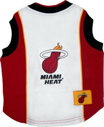 NBA Pet Mesh Tank Top, Large, Miami Heat by Pets First