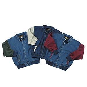 Cotton-Washed Vintage Denim Ranger Jacket with Contrasting Sleeves