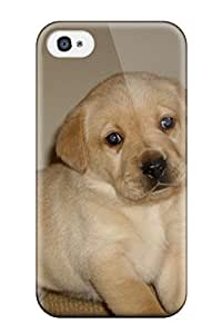 Tpu Iphone Shockproof Scratcheproof Labrador Retriever Puppies Hard Case Cover For Iphone 4/4s