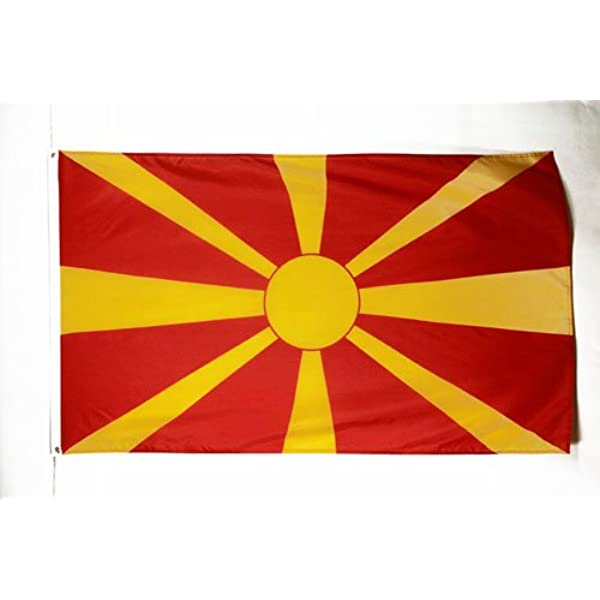 AZ FLAG Bandera de Macedonia 150x90cm - Bandera Macedonia 90 x 150 ...