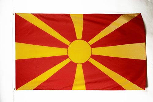 MACEDONIA FLAG 3' x 5' - MACEDONIAN FLAGS 90 x 150 cm - BANNER 3x5 ft - AZ FLAG