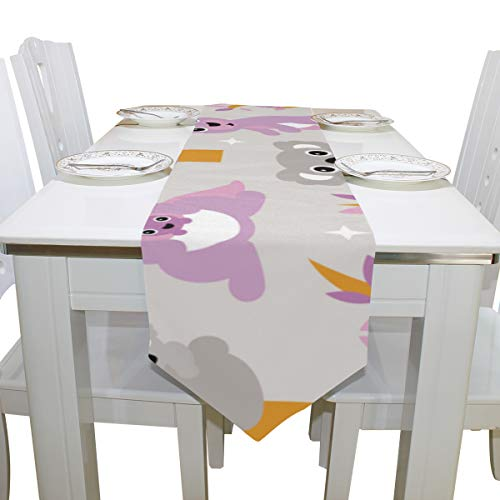 Wuhufy Kalamazoo Kangaroo Australia Dresser Scarf Cloth Cover Table Runner Tablecloth Place Mat Kitchen Dining Living Room Home Wedding Banquet Decor Indoor 13x90 Inch -