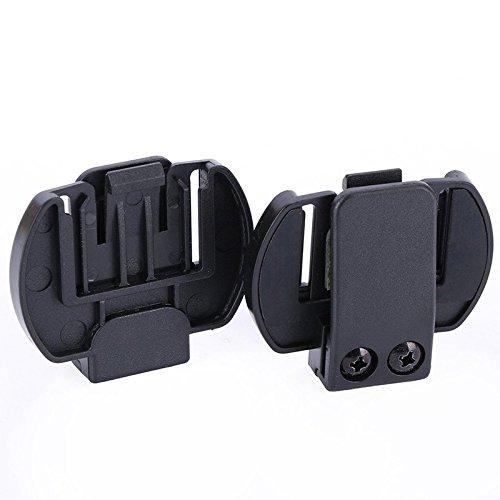 TOOGOO 2 Pcs Vnetphone V6 V4 V2-500C Intercom Accessories,Helmet Intercom Clip Mounting Bracket,Motorcycle BT Bluetooth Intercom Headt Accessories