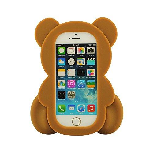 iPhone 5 / 5C Hülle, iPhone 5S Case Cover, Wenig Bär Ted Aussehen Silikon Gel Schutzhülle Hülle Handyhülle Case Cover Bumper Weich Soft Kissen Beschützer für iPhone 5 5S 5C 5G