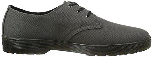 Dr. Martens DELRAY Twill Canvas - zapatos con cordones de lona hombre gris - Grau (Lead)