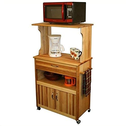 Catskill Craftsmen Microwave Cart with Open/Enclosed Storage (Microwave Carts With Hutch)