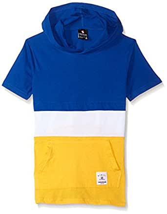 SOUTHPOLE Boys' Big Short Sleeve Hooded Fashion Tee (Age8-20), Royal/Color Block, Small