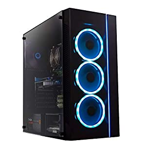 (Renewed) Periphio Gaming Desktop Computer Tower PC, Intel Quad Core i5 3.1GHz, 8GB RAM, 128GB SSD + 1TB 7200 RPM HDD, Windows 10, GeForce GTX 1650 4GB Overclocked Edition Graphics Card RGB HDMI Wi-Fi