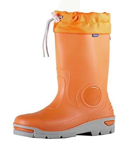 Muf01 Kinder Jungen Mädchen Gummistiefel Rainy Schnee Wellies - Silberionen Ag + Gordano Orange
