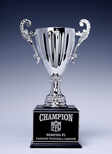 Fantasy Football Trophy Perpetual SILVER CUP on Base 12 YEAR Award