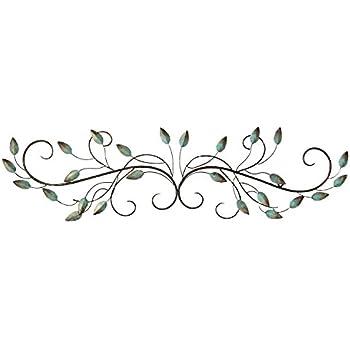 Amazon Com Stratton Home Decor Shd0065 Patina Scroll Leaf
