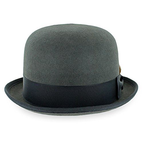 df9f3c094 Belfry Deuce 100% Wool Felt Stingy Brim Men's Derby Bowler Hat in 4 Sizes  and