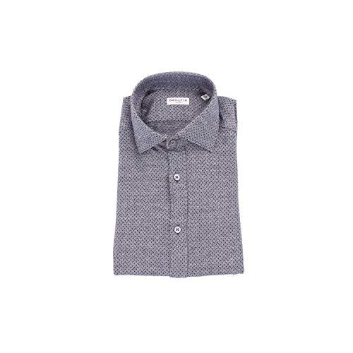 Bagutta Men's Berlino08512grey Grey Cotton Shirt