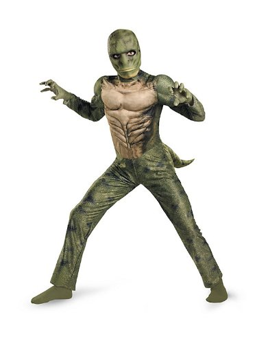 The Amazing Spider-man Lizard Classic Muscle Costume, Green/Tan, Large