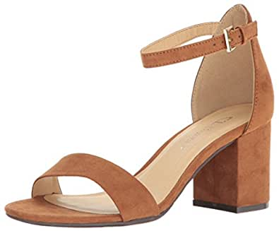 CL by Chinese Laundry Women's Jessie Block Heel Dress Sandal, Whiskey Super Suede,  5.5 M US