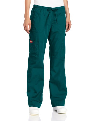 Everyday Scrubs Flare Leg (Dickies Women's Petite Everyday Scrubs Junior Fit Flare Leg, Hunter Green,)
