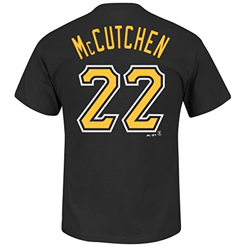 Andrew McCutchen #22 Pittsburgh Pirates Men's Player T-Shirt Black (XLT)