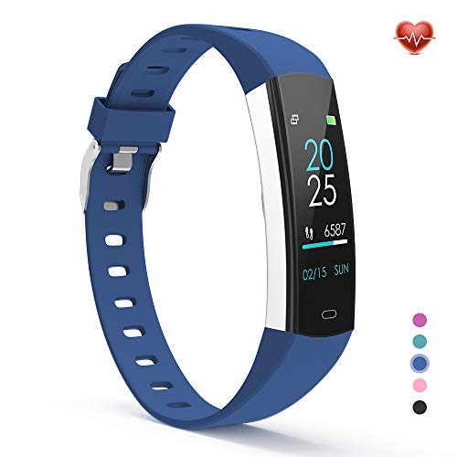 YoYoFit Slim Kids Fitness Tracker Heart Rate Monitor Watch, Kids Activity Tracker Waterproof Pedometer Watch, Digital Kids Alarm Clock Step Calorie Sleep Health Tracker as Best Fitness Gift - Health Fitness & Pedometer