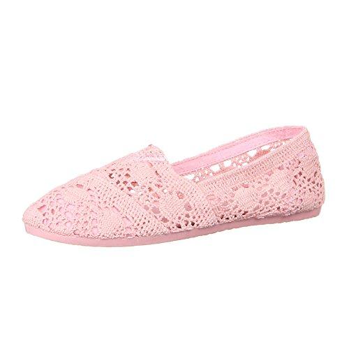 Ital-Design Damen Schuhe, 50749, Halbschuhe Rosa