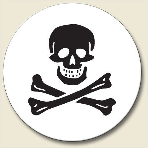 Price comparison product image Skull and Crossbones Auto Coaster - Single Coaster for Your Car