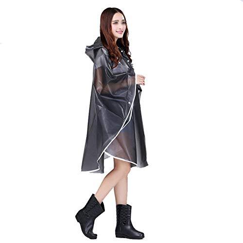 Cappuccio Per Unisex Marca Grau Elegante Con Eva Pioggia All'aperto Trasparente Bolawoo Poncho Mode Di Impermeabile T4pBWf