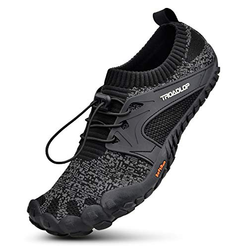 Troadlop Mens Running Shoes Barefoot Quick Dry Outdoor Training Hiking Shoes BlackGrey